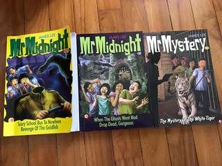 Set of 3 Mr Midnight Books