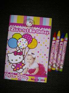 Coloring Book Hello Kitty w/ crayons