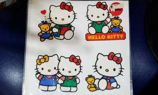 絕版1994年Hello Kitty 玻璃貼