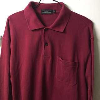 Authentic Balenciaga long sleeve polo shirt