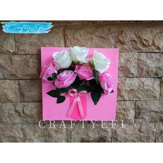 Lukisan Bunga 3D 30X30 Cm (1 Pcs) Fresh Rose