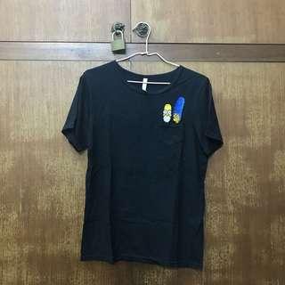 辛普森黑色翻玩短袖T恤