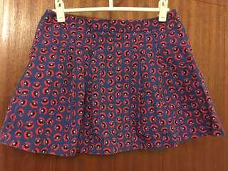 Zara Girls Printed Pleated Skirt