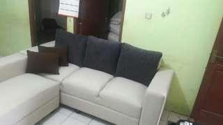 sofa l ruang tamu sale display