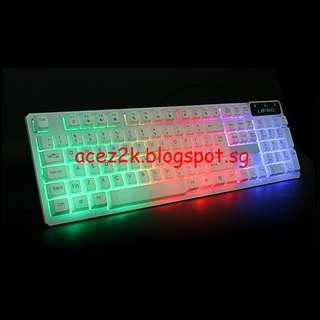 [BNIB] Rainbow Backlit USB Mechanical Feel Keyboard (Brand New Boxed)