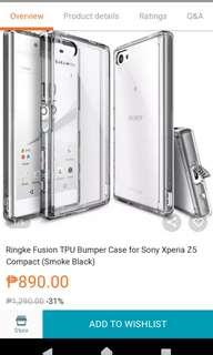Xperia Z5 Compact Case Ringke Fusion TPU Bumper Case