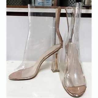 🚚 流行透明靴