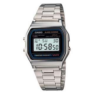 Casio Vintage A158WA-1D Silver Stainless Steel