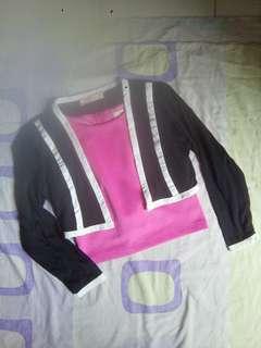 Crop top with blazer
