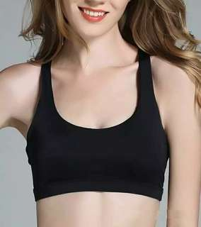 Imported Padded Sports Bra (Black)