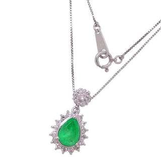 Pt850/900  祖母绿宝石1.0克拉,钻石0.4克拉