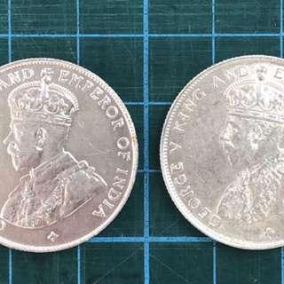 Au 1920,1921 GEORGE 50cent