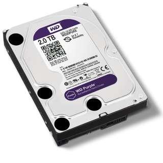 2TB Western Digital Purple Hard Drive Disk for CCTV