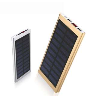 Ultra Thin Solar Charging Powerbank 20000mah