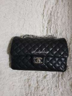 HIGH END REPLICA QUILTED DOUBLE FLAP SHOULDER BAG