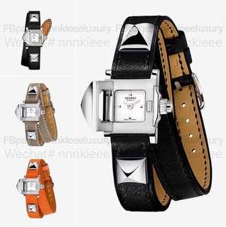 💥💥🔥6️⃣月收單啦收單啦🔥💥💥 🐴 Hermes ⏫ Medor watch, very small model 16 x 16 mm