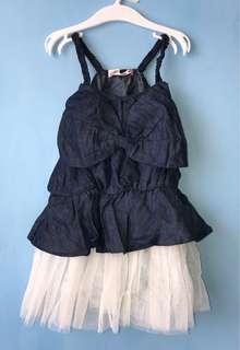 全新 牛仔洋裝(9.11.13.15碼)非嬰兒包屁衣 連身衣 爬服 背心 T恤