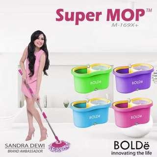 Alat Pel Sandra Dewi Lantai Berputar Super Mop Bolde M-169x+ Termurah