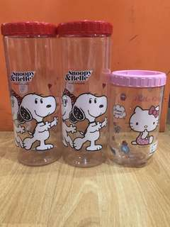 Toples / Tempat Kue Hello Kitty & Snoopy