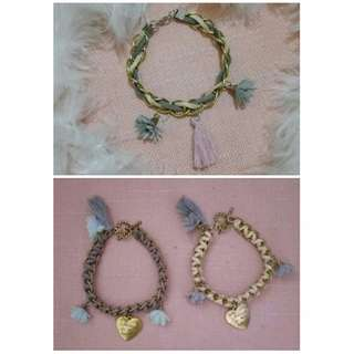 Affordable & fashionable  chain bracelets (see description box for prices)