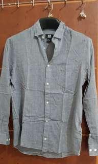 H&M kemeja grey size XS keren for u