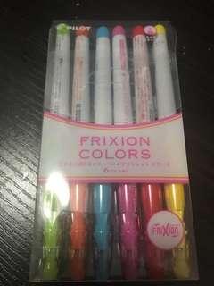 Frixion colors ( 6 colors)擦得甩