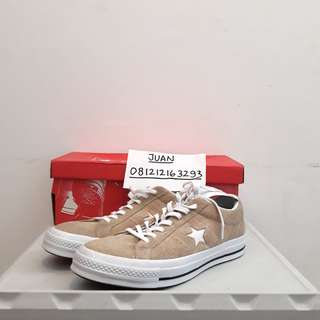 Converse One Star Ox Khaki (Krem/Cream) Ukuran 44