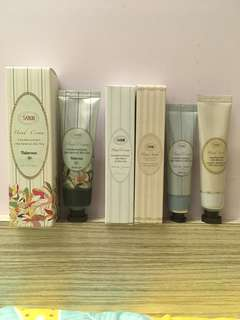Sabon Hand Cream and Hand Scrub for all skin type with boxes