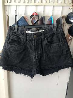 Black high waisted rip shorts
