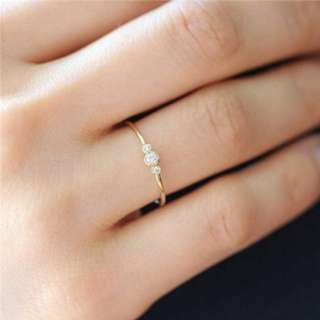 Minimalist non tarnish ring hypoallergenic