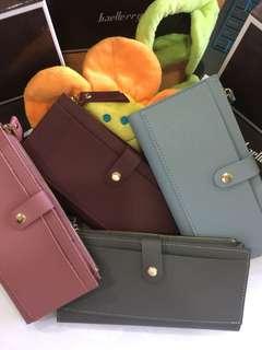 Baellerry Zipper Wallet Long Design Purse