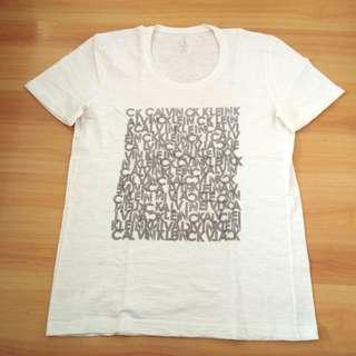 Authentic CK Calvin Klein White Printed T-Shirt