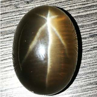 (VDO)Big Size 44cts Brazil Star Quartz. AAA Grade. Sharp Star(Asterism). 100% Natural.gem.