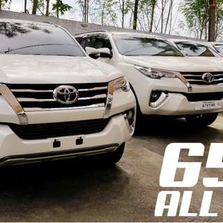 2018 TOYOTA FORTUNER G DSL AT 60K ALL IN