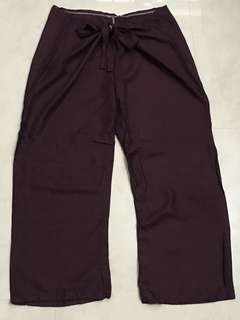 Thai 3/4 capris tie front rayon  pants