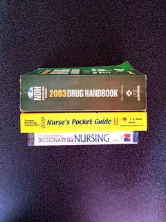 Nursing Books Bundle (NANDA, DRUG HANDBOOK, DICTIONARY