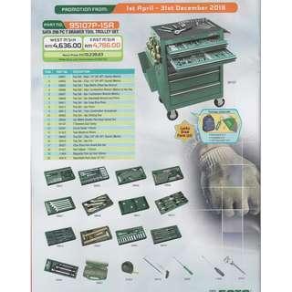 SATA 298pc 7 Drawer Tool Trolley Set