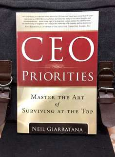 《New Book Condition + The Keys To Being A Successful CEO》Neil Giarratana - CEO PRIORITIES : Master The Art of Surviving At The Top