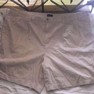HARBOR BAY beige Plus size walking shorts W54