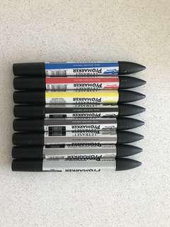 Pro marker double end pens
