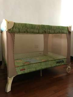 Fisher Price Rainforest Travel Cot (playpen)