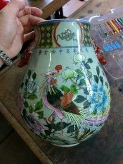 手畫七十年代舊花樽,好重手$1200