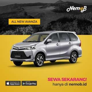 Sewa mobil New Avanza 2018 murah di Jakarta, hanya 400 ribu dengan driver.