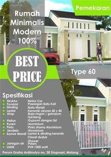 Rumah minimalis type 60