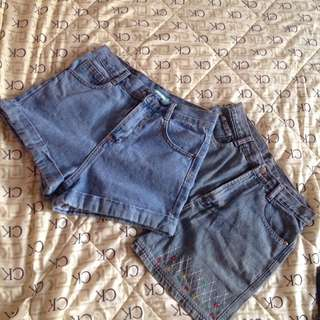 Highwaisted Denim Shorts Bundle