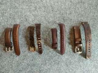 Genuine Brown Leather Watch Strap 18mm 20mm