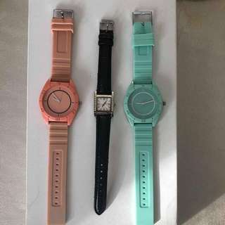 Watch - pink, aqua, black