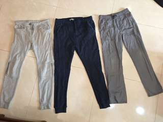 大童Zara 束口長褲👖old Navy束口長褲👖共3件400一起賣