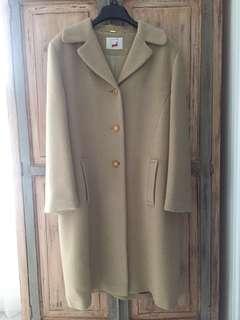 🚚 復古風羊毛駝色長大衣