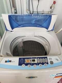 10kg聲寶洗衣機,因許久未用內槽要自行清理